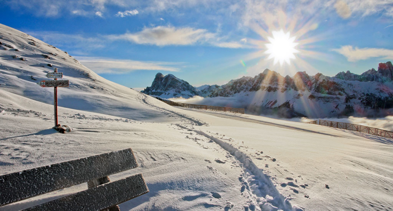 Skiing fun in March